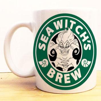 Sea Witch's Brew Coffee Mug |  Ursula The Little Mermaid Starbucks |  Disney Villain