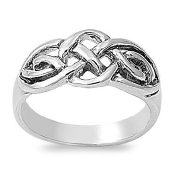 925 Sterling Silver Trinity Style Wiccan Weave Ring