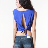 A'GACI Tie Back Crepe Top - New Arrivals