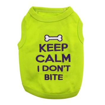 Keep Calm I Don't Bite Dog Tank - Green