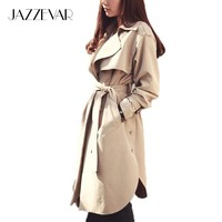 Women Casual Long Trench Coat