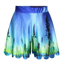 Print Plus Size Strong Character Casual Pants Dress Slim Sexy Shorts [6049171329]