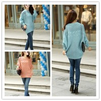 Women : Hook flower Sweaters hollow out batwing-sleeved KNITs ghl0208