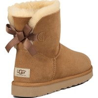 UGG Australia Women's Bailey Bow Mini Winter Boots - Chestnut | DICK'S Sporting Goods