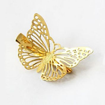 Women Shiny Butterfly Hair Clip Headband Hairpin Accessory Headpiece Wonderful gift