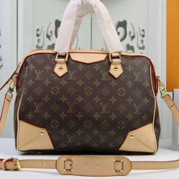 Louis Vuitton Women Fashion Leather Satchel Shoulder Bag Handbag Crossbody M40325