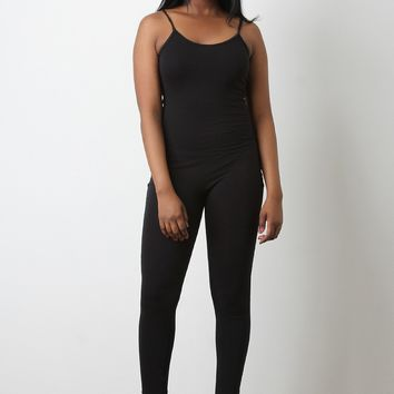 Sleeveless Stretchy Catsuit Jumpsuit