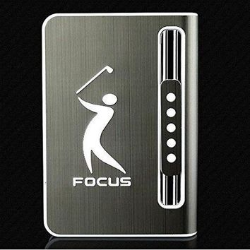 Stylish 10 pack Automatic Loading Cigarette Case Dispenser With Built in Torch Lighter (BLACK COLOR)- (GD-1329 , FREE CAR sticky pad for Phone PDA MP3 MP4)