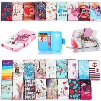 ICIKHY9 Leather Pu Filp Phone cases For Samsung Galaxy S3 mini Case Stand Holder Cover Cases With Card Slot For samsung S3 mini i8190