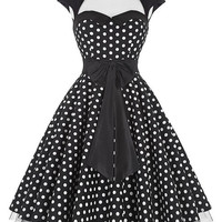 Belle Poque Summer 50s Polka Dot Vintage Pinup Dress Big Swing Plus Size Clothing schwarz kleid Dancing Party Dresses kleider
