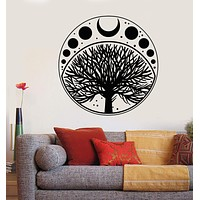 Vinyl Wall Decal Moon Phases Cycle Tree Of Life Symbol Stickers Unique Gift (1836ig)