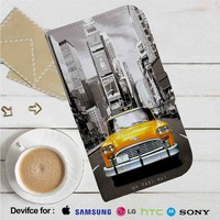 New York Taxi No 1 Leather Wallet iPhone 4/4S 5S/C 6/6S Plus 7| Samsung Galaxy S4 S5 S6 S7 NOTE 3 4 5| LG G2 G3 G4| MOTOROLA MOTO X X2 NEXUS 6| SONY Z3 Z4 MINI| HTC ONE X M7 M8 M9 CASE