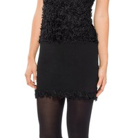 Designer High Twist Rayon Textural Knitted Sleeveless Sweater Dress | Max Studio Official by Leon Max | MaxStudio.com