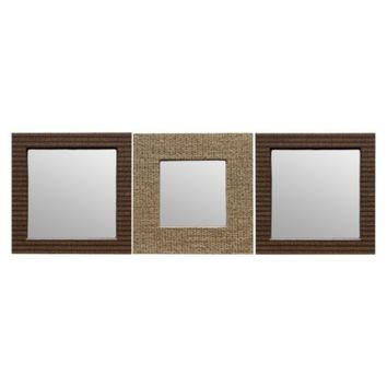 Threshold™ Woven Mirror 3 Pack - Brown