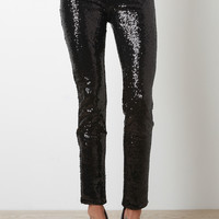 Sequin Fitted Pants