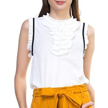 Cry Me A River Top | White