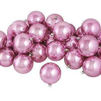 "60 Christmas Ball Ornaments - 2.5 ""  - Bubblegum Pink"