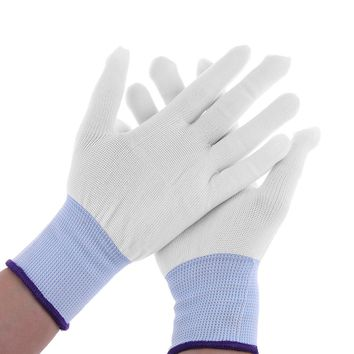 1 Pair Unisex White Nylon Wrapping Gloves Practical Application Tools For Car Wrap Vinyl Sticker Mittens Gloves