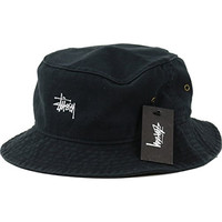 Stussy Mens Smooth Crusher Bucket Hat/Cap Small/Medium Black