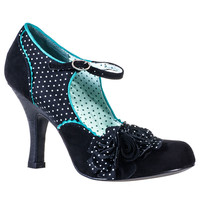 Ruby Shoo Ladies Alice Polka Dot Shoes In Black | Tiger Milly
