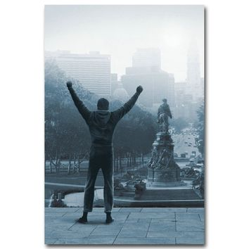Rocky Balboa Boxing Art Silk Poster Print 13x20 inch Motivational Movie Sylvester Stallone Picture for Room Wall Decor 009