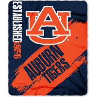 Auburn Tigers 50x60 Fleece Blanket - College Painted Design