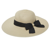 Chiffon Bow Floppy Hat | Wet Seal