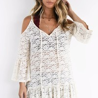 Likes Me For Me Cream Lace Top