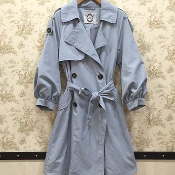 Military style women trench coats