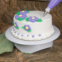 Evelots Turntable Rotating Cake Stand Holds 11 Inch Cakes Decorating & Displays