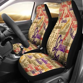 Custom-Made Holy Bible Books Light Brown Car Seat Covers