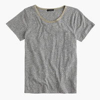 POCKET TEE WITH METALLIC TRIM
