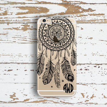 Custom Iphone 6 case clear, Dream catcher Iphone 6 Plus case clear, Unique Iphone case, Christmas stocking stuffer for teenagers (1591)