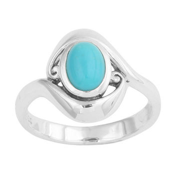 Dancing Wave Stone Ring