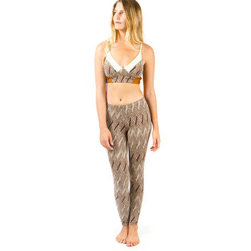Balboa Surf Leggings - Geo Gold