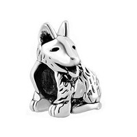 Love Animal Charms Large German Shepherd Dog Animal Jewelry Beads Fit Pandora Charm Br