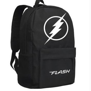 New The Flash Backpack Cosplay Justice League Anime Cartoon Bag Anime Oxford Schoolbag