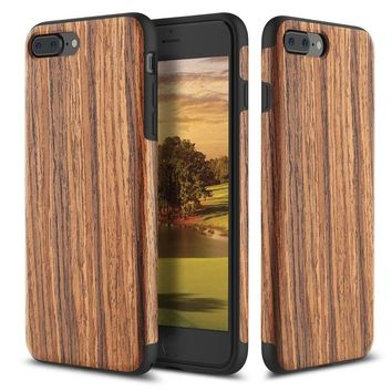 Vintage Natural Wood Wooden Bamboo Shockproof Phone Cover Back Case for iPhone 6 6s 7 7 Plus Samsung S7 S7 edge