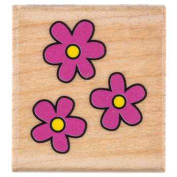 Tiny Flower Trio Rubber Stamp | Hobby Lobby | 798041