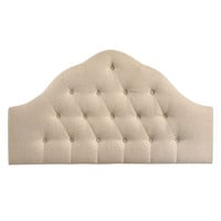 Sovereign King Fabric Headboard in Beige