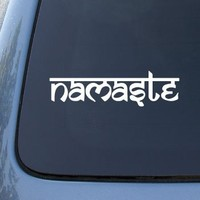 Namaste - Tibet Buddha - Car, Truck, Notebook, Vinyl Decal Sticker #2318 | Vinyl Color: White