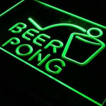 Beer Pong LED Neon Light Sign