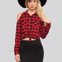 Plaid About You Shirt - Red - Tops - Clothes | GYPSY WARRIOR