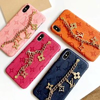 Free Shipping-LV Metal Letter Chain Bracelet iphone 11 Mobile Shell