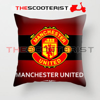 "Manchester United Red Devil - Pillow Cover 18"" x 18"" - One Side"