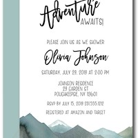 Mountain Baby Shower Invitations