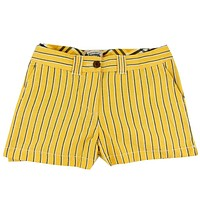 Women's Shorts in Black and Gold Oxford Stripe by Olde School Brand - FINAL SALE