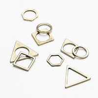 Free People Womens Shapes Stacking Ring