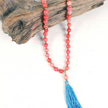 Cotton Candy Tassel Necklace
