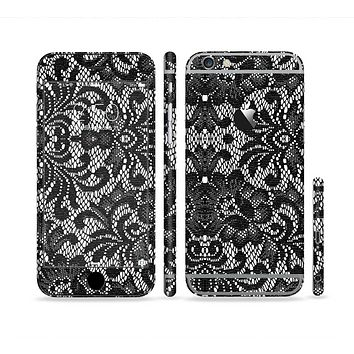 The Black and White Lace Pattern10867032_xl Sectioned Skin Series for the Apple iPhone 6